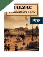 Honoré de Balzac [Scene Din Viata Pariziana] Comedianti Fara S-o Stie