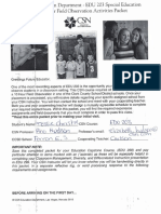 special education field observation packet