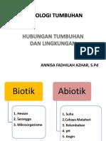 Hubungan tumbuhan dengan lingkungan (Matkul Fisiologi)