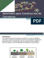 Materiales Para Construccion de Carreteras