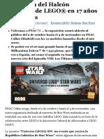 La historia del Halcón Milenario de LEGO® en 17 años de ladrillos – Asociación Cultural ALE!