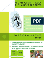 Roles and responsibilities of merchandiser and buyer in retail