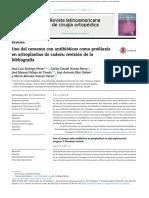 Uso Del Cemento Con Antibióticos Como Profilaxis en Artroplastias de Cadera Revisión de La Bibliografía
