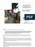 U District Small Business Vulnerability Study 12-12-2017