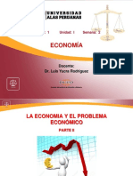 LA ECONOMIA Y EL PROBLEMA ECONÓMICO PARTE II