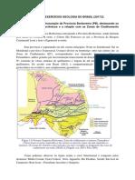 2ª Lista de Exercícios Geologia Do Brasil (2017_2) (1)
