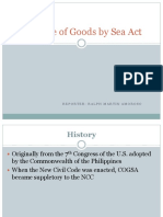 Carriage of Goods by Sea Act (1)
