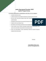 Standar Operasional Prosedur MENYEDIAKAN OBAT
