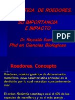 1.- Sistemática de Roedores