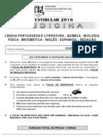 PROVA Ciencias Medicas 2016 MEDICINA 2016