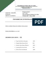 Informe de Investigación