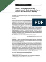 Estado Nutricional y Morbi-Mortalidad en Pacientes con Anastomosis Gastrointestinales en el Hospital Nacional Hipolito Unanue (HNHU).