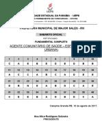 2-Agente Comunitario de Saude Esf Area Zona Urbana-gab-Of Ret