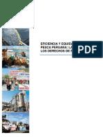 Eficiencia y Equidad en La Pesca Peruana