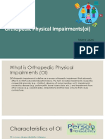 15 orthopedic impairments