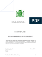 Zambia Draft Land Policy (2006)