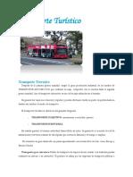 Clasificación Del Transporte Terrestre Turístico, Ambito de Operacion, Tipo de Servicio