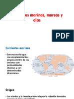 Corrientes Marinas, Mareas y Olas
