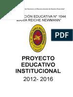 PEI 2012-2016  IE Nº1044