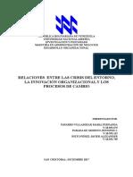 Informe 3 Las Relaciones Entre Las Crisis Del Entorno, La Innovacion Organizacional y Los Procesos de Cambio