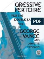 Progressive Repertoire for the Double Bass, Vol. 1 (Book) - George Vance