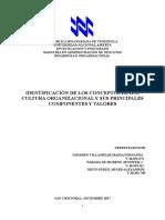 Informe 2 Identificación de Los Conceptos de d.o, Cultura Organizacional y Sus Principales Componentes y Valores