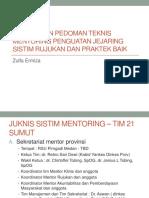 Pedoman Teknis Mentoring Dan Praktek Baik