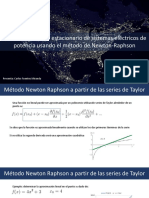 Método Newton-Raphson aplicado a flujos de potencia