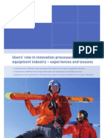 07028 Users Role in Innovation Processes in the Sports Equipment Industry Final Report Web