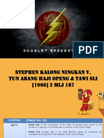 Case Review Stephen Kalong Ningkan