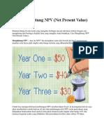 Cara Menghitung NPV (Net Present Value)