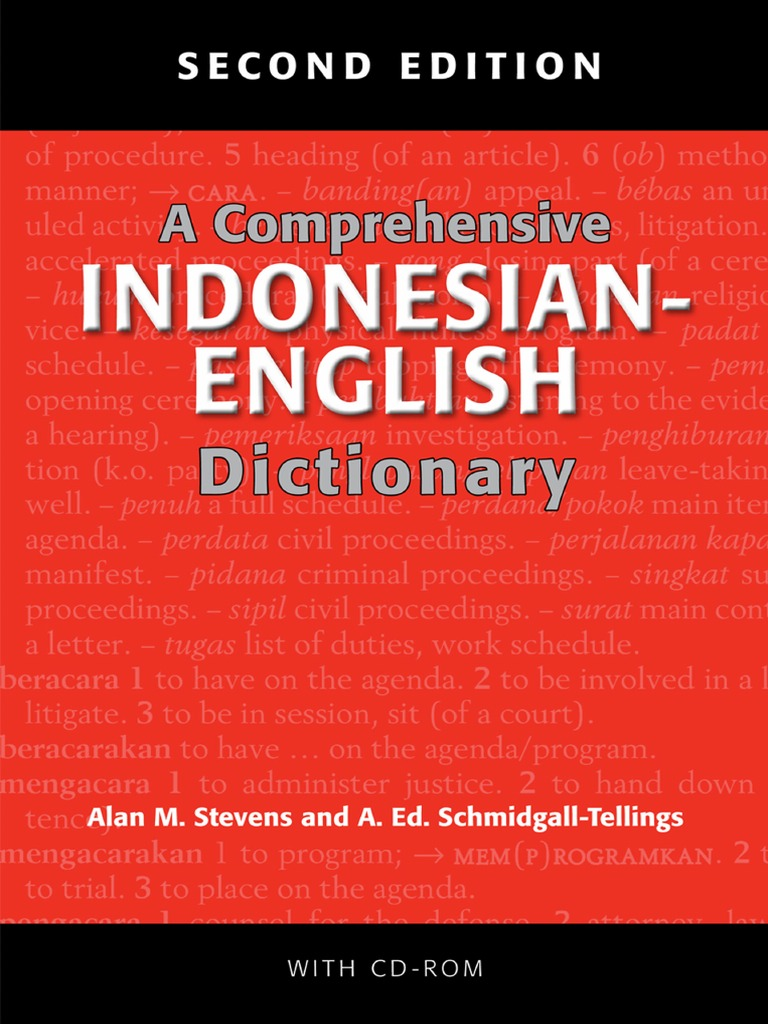 A Comprehensive Indonesian-English Dictionary  724614aac0