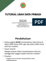Tutorial Ubah (Up-date) Data Pribadi Anggota Ppni