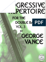 Progressive Repertoire for the Double Bass, Vol. 3 (Book) - George Vance