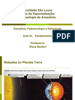 Aula 01 - Paleoecologia Fundamentos