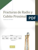 Fracturas de Radio y Cubito Proximal