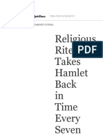 Religious Rite Takes Hamlet Back in Time Every Seven Years - The New York Times