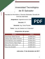 Ley de Calidad en El Salvador
