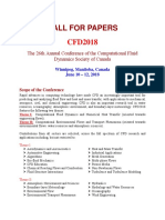 Cfd2018 Call for Papers