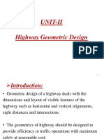 Geometric Design of Highway