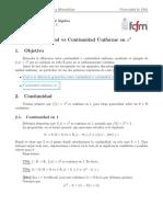 Continuidad vs Continuidad Uniforme en x^2