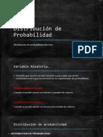 Distribución de Probabilidad Discreta