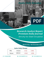 Equity Premium Daily Journal-13th Dec 2017, Wednesday