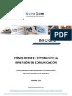 Cómo medir el ROI en comunicación Novacom 2010
