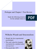Prologue and Chapter 1 Test Review