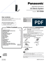 Manual Panasonic Stereo System SC-En38