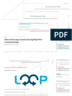 How to Do Loop Checks During Plant Pre-Commissioning Instrumentation Tools