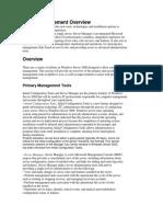 Server Management Overview