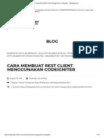 Cara Membuat REST Client Menggunakan Codeigniter - Belajarphp