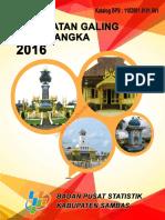 Kecamatan Galing Dalam Angka 2016